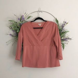 J. Jill dusty rose top size medium